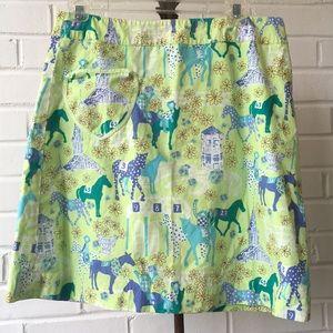 Vintage Lilly Pulitzer Derby Skirt w/ Horses Sz 4